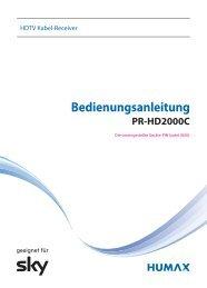 Bedienungsanleitung Humax PR-HD2000C (PDF, 1.6 ... - Unitymedia