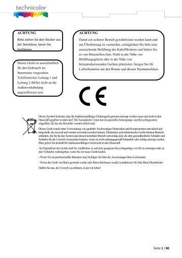 Benutzerhandbuch TC7200 (PDF) - Unitymedia