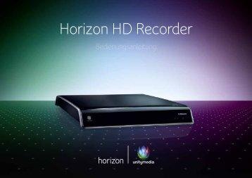 Bedienungsanleitung Horizon HD Recorder (Stand ... - Unitymedia