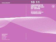 Guida Facoltà 2010/11 - Università degli studi di Udine