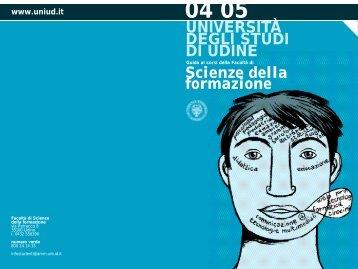 Guida Facoltà 2004/05 - Università degli studi di Udine