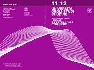 Guida ai corsi a.a. 2011/12 - Università degli studi di Udine