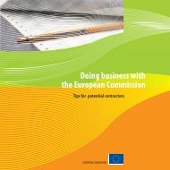 Doing business with the European Commission (Tips for potential ...