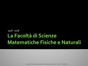Presentazione Facoltà - Università degli studi di Udine