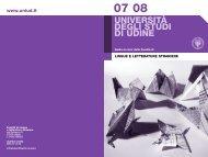 Guida ai corsi a.a. 2007/08 - Università degli studi di Udine