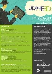 9-10 novembre 2012 - Università degli studi di Udine
