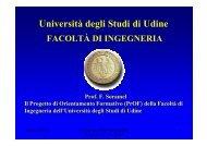 Descrizione Facoltà e progetto - Università degli studi di Udine