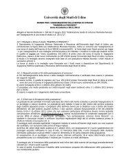 Bando per l'assegnazione della borsa di studio - Università degli ...