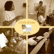 A Cycle of Care - Unity Health Care