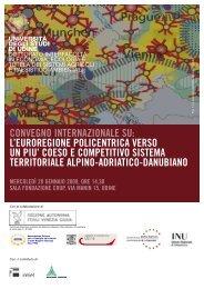 Locandina convegno - Università degli studi di Udine
