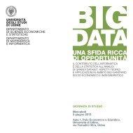locandina BigData - Università degli studi di Udine