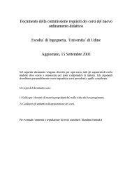 Prerequisiti - Università degli studi di Udine