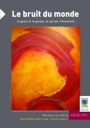 Programme de juillet 2011 (*.pdf) - Université d'Avignon et des Pays ...