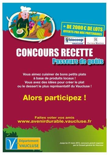 concours recette - Université d'Avignon et des Pays de Vaucluse