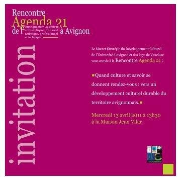 Programme de la rencontre (*.pdf) - Université d'Avignon et des ...