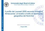 Indagine ALMALAUREA laureati 2005 - Università degli studi di Udine