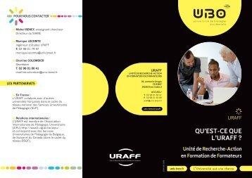 Télécharger la plaquette de l'URAFF en PDF