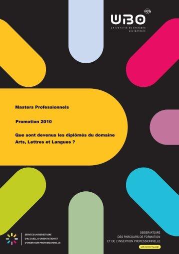 Télécharger le domaine Arts, Lettres et Langues - Université de ...
