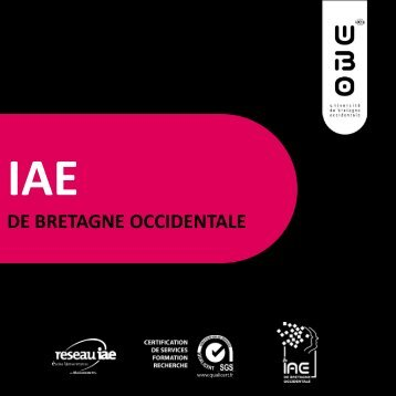 IAE BRETAGNE OCCIDENTALE - Université de Bretagne Occidentale