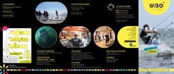 ACTIVITÉS SPORTIVES BREST 2012//13