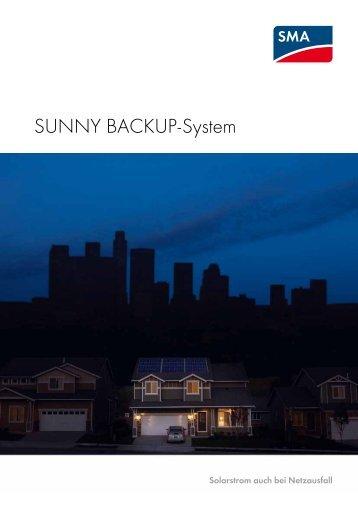 Sunny Backup-System - Solarstrom auch bei Netzausfall