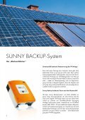 Sunny Backup-System - Solarstrom auch bei Netzausfall - Seite 2