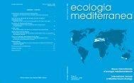 ecologia mediterranea - Université d'Avignon et des Pays de Vaucluse