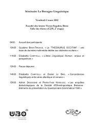 Séminaire La Bretagne Linguistique - Université de Bretagne ...