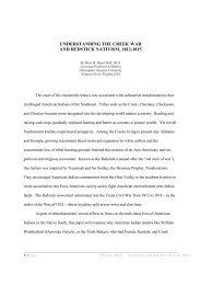 understanding the creek war and redstick nativism, 1812-1815