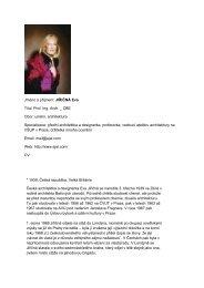 Jméno a příjmení: JIŘIČNÁ Eva Titul: Prof. Ing. Arch. _ CBE Obor ...