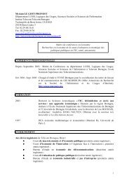 Myriam LE GOFF - Université de Bretagne Occidentale
