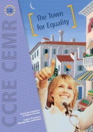 Town for Equality - Council of European Municipalities and Regions