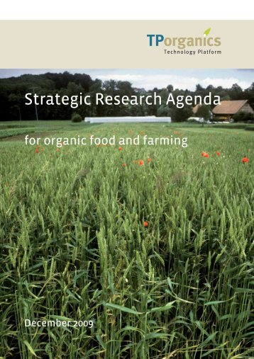 Strategic Research Agenda - TP Organics
