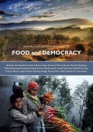 FOOD and DEMOCRACY - Multiple Choices