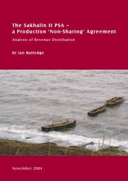 The Sakhalin II PSA – a Production 'Non-Sharing' Agreement