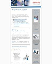 Analytical e-News (Jul 2012) - Thermo Fisher