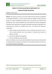 issn: 2278-6236 impact of stock valuation on ... - Garph.co.uk