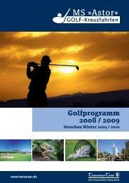 Golfprogramm 2008 / 2009