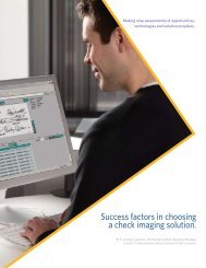 Success factors in choosing a check imaging solution. - Idt-inc.com