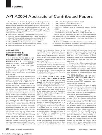 Downloaded - Journal of American Pharmacists Association