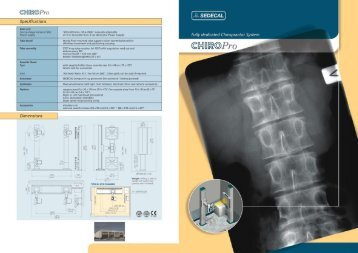 Download Brochure for the Sedecal Chiro Pro X-Ray System.