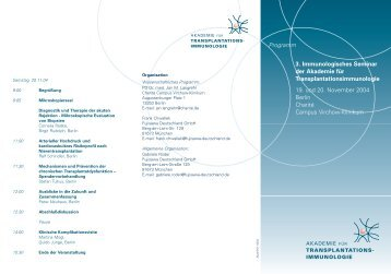 3. Seminar: November 2004 - AKADEMIE für ...