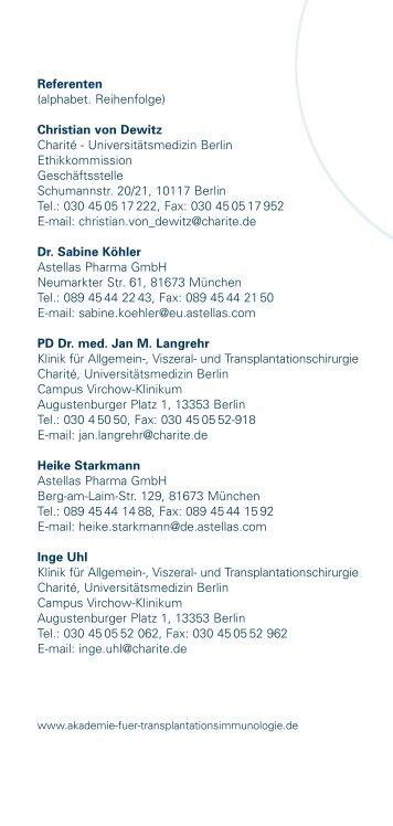 4. Seminar: März 2006 - AKADEMIE für Transplantationsimmunologie