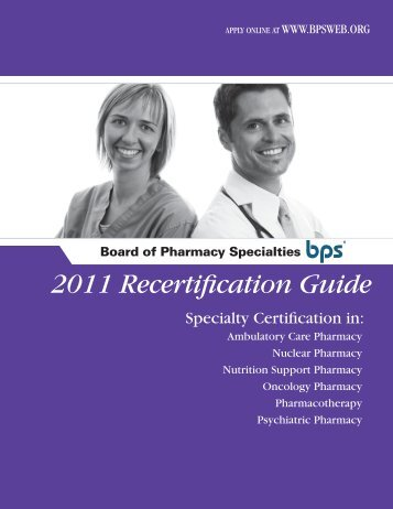 Recertification Guide - Board of Pharmaceutical Specialties