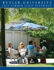 Summer 2010 Schedule of Classes (PDF) - Butler University