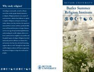 Brochure 1 - Butler University