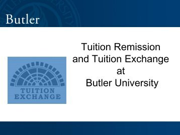 Tuition Exchange at Butler University
