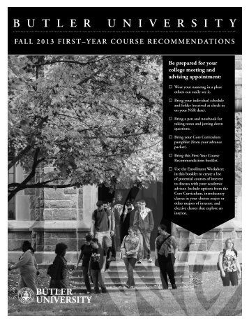 course catalog - Butler University