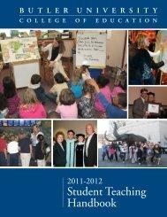 Student Teaching Handbook - Butler University