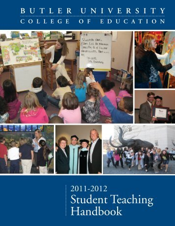 Student Teaching Handbook - Butler University